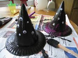 4 crazy kings halloween kids craft witches hats halloween