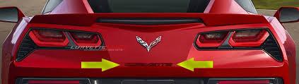 2014 corvette stingray emblem c7 corvette stingray z06 grand sport 2014 custom painted rear
