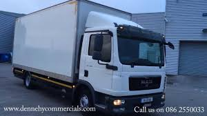 man truck tgl 8 180 box body cantilever taillift youtube