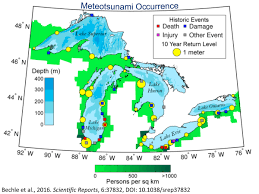Map Of Great Lakes Scientists Want To Create A Warning System For Freshwater Tsunamis