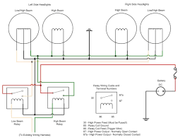 wiring headlight relays in spotlight diagram carlplant