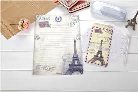 aliexpress com buy vintage eiffel tower large letter paper set