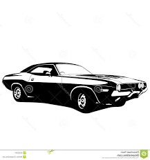 classic cars clip art best car profile stock muscle clipart images