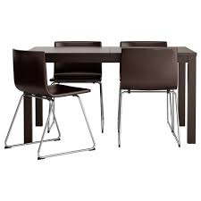 chair bjursta table and 6 chairs brown black gobo white ikea
