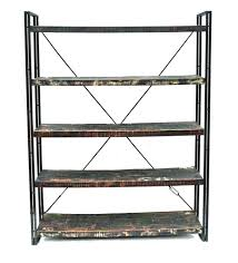 Reclaimed Wood Shelves by Moti Furniture Addison Reclaimed Wood And Metal Book Shelf Wall