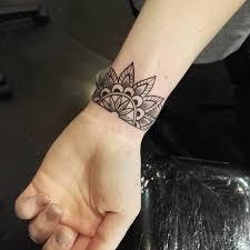 flower tattoo 7 mandala wrist tattoo on tattoochief com