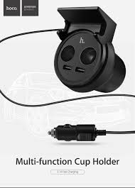 Multi Socket Car Charger With Usb Port Hoco Uc207 Car Cup Shape Charger 5v 3 1a Dual Usb Black