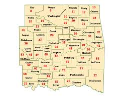 Oklahoma City Zip Code Map by Wims County Id Maps