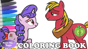 mlp big mac and sugar belle coloring book pages big mcintosh my