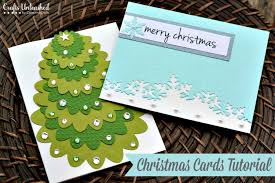 handmade christmas card tutorial crafts unleashed