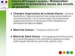 chambre agriculture haute vienne programme national pour l alimentation en limousin ppt