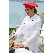 chef cuisine femme veste de cuisine femme col officier poche poitrine 100 coton