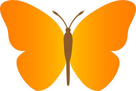 colour in butterfly clip art library