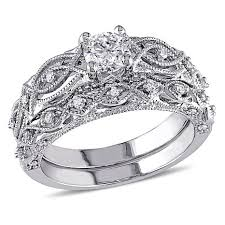vintage design rings images 10k white gold 0 74ctw diamond vintage design engagement ring and jpg