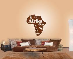 Wohnzimmer Rot Braun Wanddeko Afrika Karte Für Ihre Wand Im Wohnzimmer