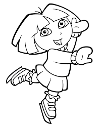 dora coloring pages for toddlers dora ice skating coloring pages coloring page