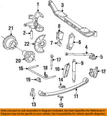 ford oem 92 97 f super duty front suspension shock mount bracket
