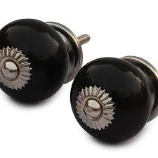black cabinet door handles lowes benzara benzara bm145856 handmade black cabinet door knobs