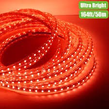 Amber Led Strip Lights by 110v Waterproof Led Strip Light Red 50m Led Outdoor Christmas