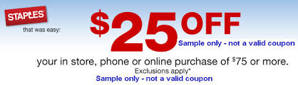 staples coupon black friday staples auto generate 25 off 75 coupon via link redeem in