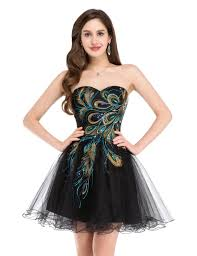grace karin short black cocktail dress 2016 embroidery