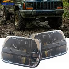 jeep wrangler square headlights aliexpress com buy square pair 7x6 led headlights h4 light for