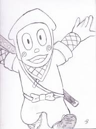 ninja hattori hd drawing images coloring pages kids