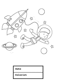 young boy astronaut space suit coloring download