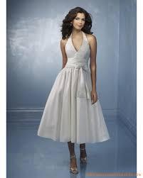 mariage chetre tenue robe de mariée mi longue col v plongeant robe de mariée pas chère