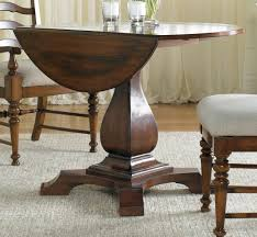 Round Pedestal Dining Table With Leaf Hooker Furniture Dining Room Waverly Place Round Drop Leaf