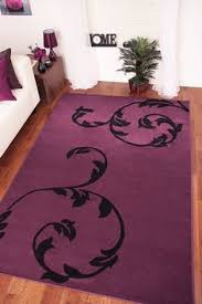 Modern Purple Rugs Purple And Black Damask Rug Carved 200 Purple Black