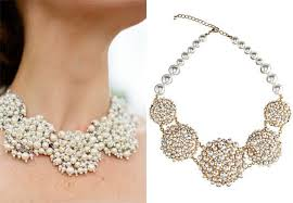 statement necklace pearl images 6 brides who wore statement necklaces steal their style h
