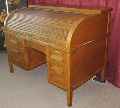 Roll Top Desk Oak Lot Detail Stately Tiger Oak Antique Moon Desk Co Roll Top Desk