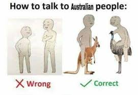 Australian Memes - how to talk to australian people how to talk to short people
