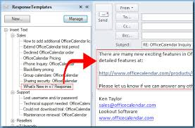 microsoft outlook email reply templates