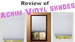 review of achim vinyl room darkening pleated shades youtube