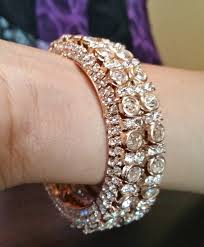 wedding bangle bracelet images Dc 004 gold tone american diamond bridal wedding bangle kada jpg