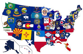 United States Map With States by United States Flag Map By Heersander On Deviantart