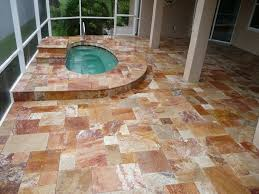 Travertine Patio Patios Brick Paver Showroom Of Tampa Bay