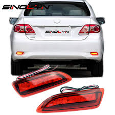 custom car tail lights custom aftermarket led tail lights for 2011 2013 toyota corolla