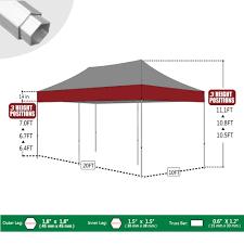 10 X 5 Canopy by Amazon Com Eurmax 10 X 20 Easy Pop Up Canopy Carport Wedding