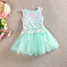 pattern dress baby girl new arrival baby girl kids sleeveless vest dress lace dress crochet