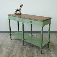 Green Console Table Green And Honey Console Table Wooden Console Table With A