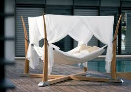 Rocking Bed Frame by Unique Rocking Bed With Canopy For Relaxing Outdoor Seating Idea
