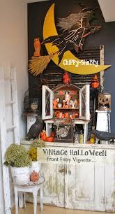 chippy shabby vintage halloween vignette fab gurley brand