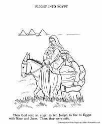 the birth of jesus new testament coloring pages the flight into