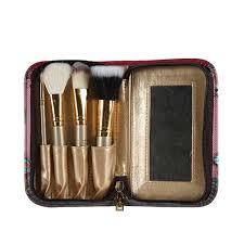 nl exclusive print 4 piece travel brush set