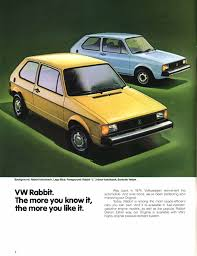 vintage volkswagen rabbit thesamba com vw archives 1981 vw rabbit brochure
