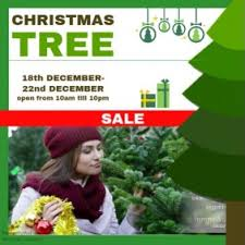christmas tree sale customizable design templates for christmas tree sale postermywall