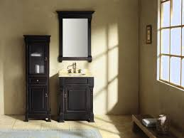 bathroom design and decoration using black wood narrow bathroom